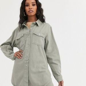 MISSGUIDED DENIM SAGE SHIRT - NEW WITH TAGS!!!